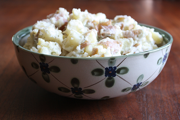 Organic Garden Herb Potato Salad